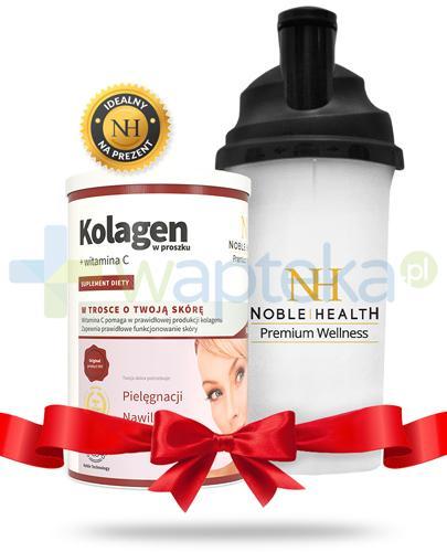 Noble Health Kolagen w proszku z witaminą C 100 g + bidon 700 ml [ZESTAW]
