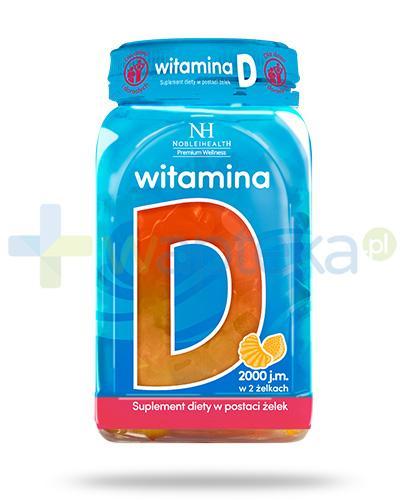 Noble Health witamina D w żelkach dla dzieci i dorosłych 180 g + bezglutenowa kaszka 55g [GRATIS]