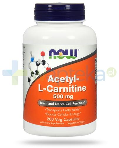 NOW Foods Acetyl L-Carnitine 500mg 200 kapsułek vege