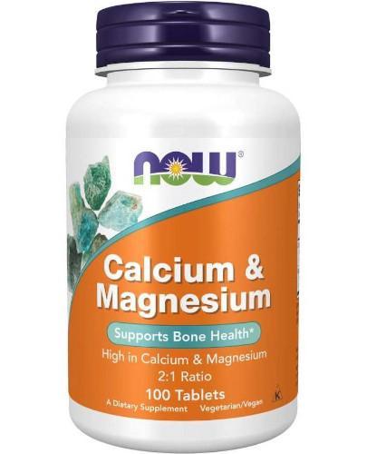 NOW Foods Calcium & Magnesium 100 tabletek