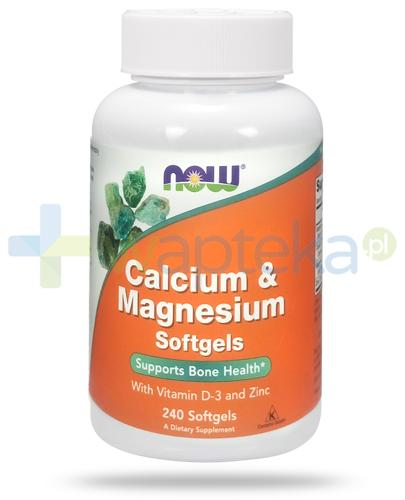 NOW Foods Calcium & Magnesium 240 kapsułek