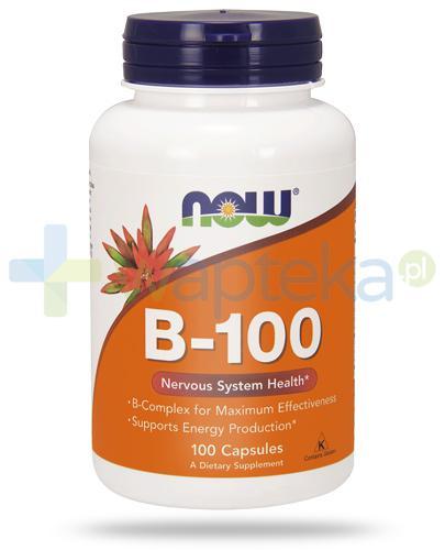NOW Foods B-100 kompleks witamin B 100 kapsułek