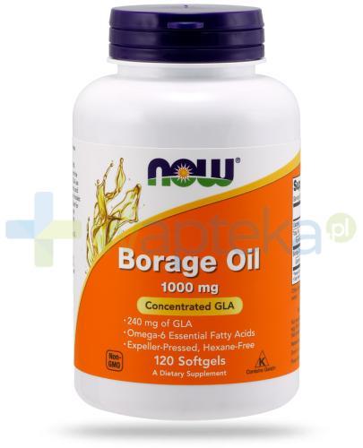 NOW Foods Borage Oil 1050 mg 240 mg GLA 120 kapsułek