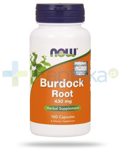 NOW Foods Burdock Root 430mg korzeń łopianu 100 kapsułek