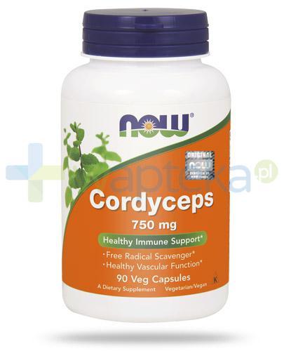 NOW Foods Cordyceps 750mg 90 kapsułek