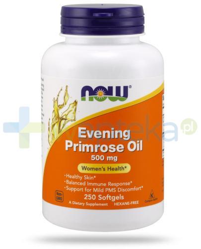 NOW Foods Evening Primrose Oil 500 mg olej z wiesiołka 250 kapsułek