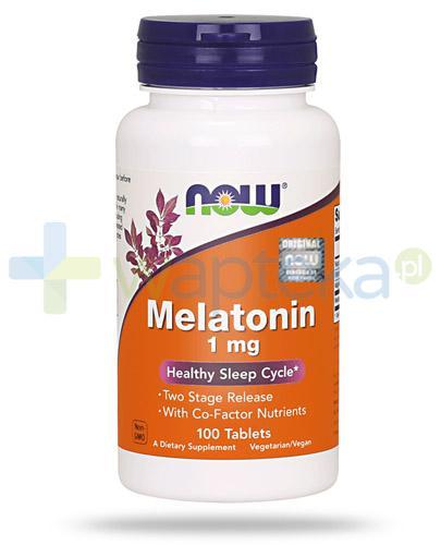 NOW Foods Melatonin 1mg 100 tabletek [Data ważności 31-03-2019]