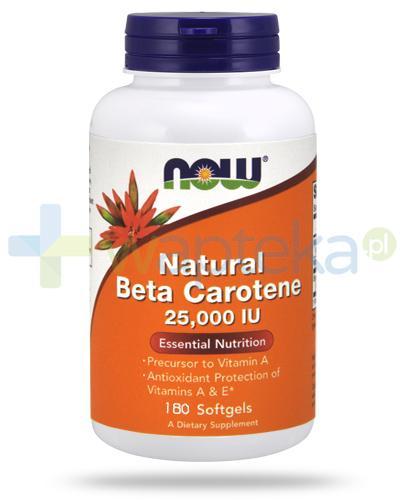 NOW Foods Natural Beta Carotene 25000IU 180 kapsułek miękkich