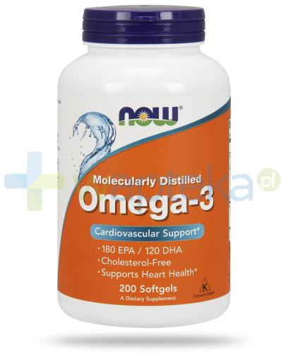 NOW Foods Omega-3 1000 mg 200 kapsułek
