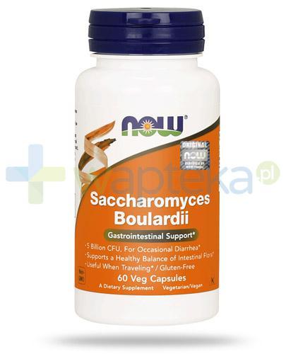NOW Foods Saccharomyces Boulardii wsparcie przewodu pokarmowego 60 kapsułek