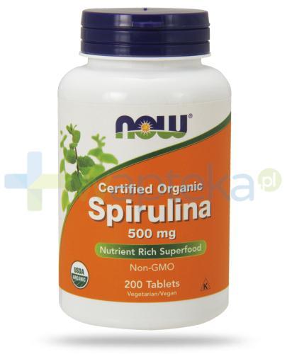 NOW Foods Spirulina 500mg 200 tabletek