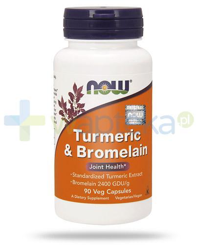 NOW Foods Turmeric & Bromelain kurkuma i bromelaina 90 kapsułek