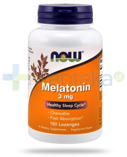 NOW Foods Melatonin 3mg 180 kapsułek