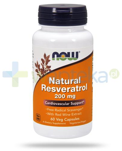 NOW Foods Natural Resveratrol 200mg 60 kapsułek vege