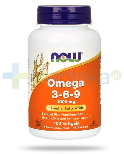 NOW Foods Omega 3-6-9 1000mg 100 kapsułek