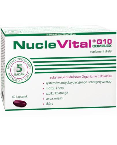 NucleVital Q10 Complex esencja diety śródziemnomorskiej 60 kapsułek