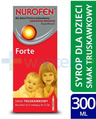 Nurofen Forte 40mg/ml zawiesina dla dzieci o smaku truskawkowym 2x 150 ml [DWUPAK]