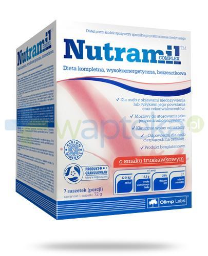 Nutramil Complex preparat odżywczy o smaku truskawkowym 7 saszetek