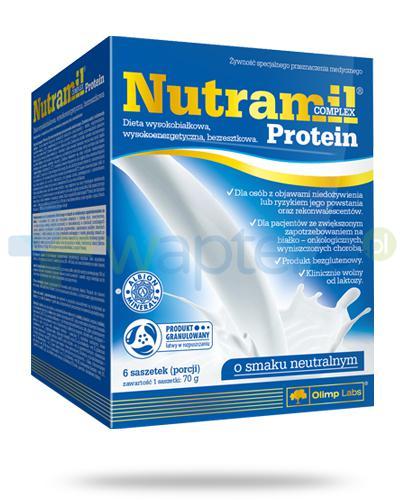 Nutramil Complex Protein preparat odżywczy o smaku neutralnym 6 saszetek