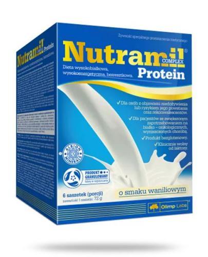 Nutramil Complex Protein preparat odżywczy o smaku waniliowym 6 saszetek
