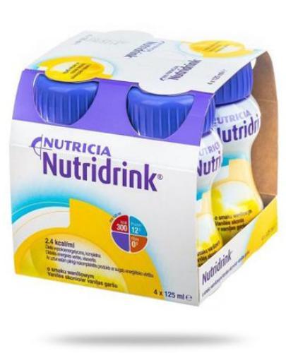 Nutridrink Multi Fibre smak waniliowy 4x 125 ml