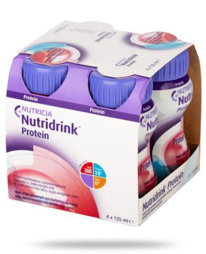 Nutridrink Protein smak rześkich czerwonych owoców 4x 125 ml