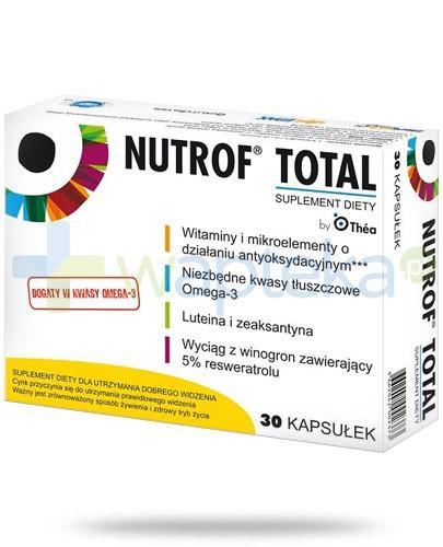 Nutrof Total dla utrzymania dobrego widzenia 30 kapsułek