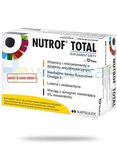 Nutrof Total dla utrzymania dobrego widzenia 60 kapsułek