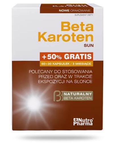 NutroPharma Beta Karoten Sun 90 kapsułek