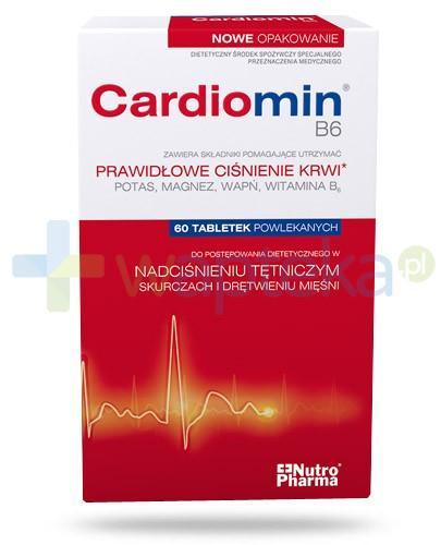 NutroPharma Cardiomin prawidłowe ciśnienie krwi B6 60 tabletek