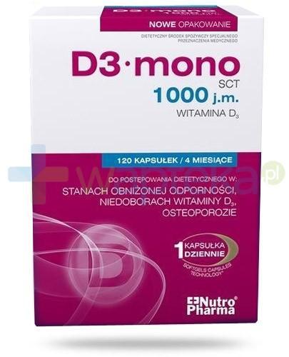 NutroPharma D3 Mono witamina D 1000j.m. 120 kapsułek