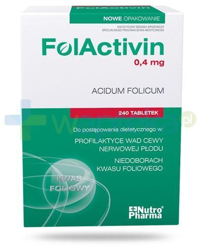 NutroPharma FolActivin 0,4mg kwas foliowy 240 tabletek