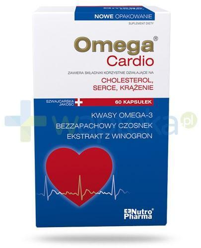 NutroPharma Omega Cardio Cholesterol, serce, krążenie 60 kapsułek - Data ważności 31-03-2017