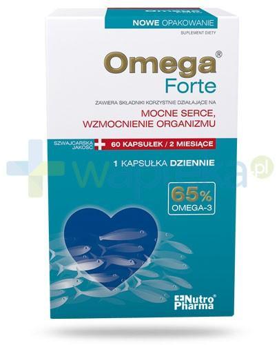 NutroPharma Omega Forte Mocne serce wzmocnienie organizmu 60 kapsułek