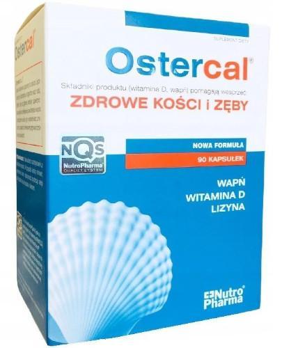 NutroPharma Ostercal 1250 D zdrowe kości i zęby 90 tabletek