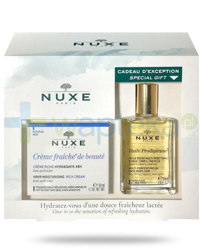 Nuxe Creme Fraiche de Beaute, 48h pielęgnacja i ochrona przed zanieczyszczeniami do skóry suchej [ZESTAW]