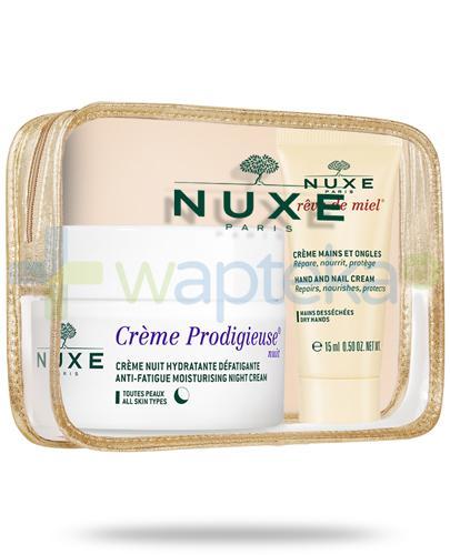 Nuxe Creme Prodigieuse Nuit krem na noc 50 ml + Reve de Miel krem do rąk i paznokci 15 ml [ZESTAW]
