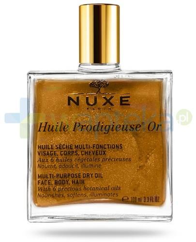 Nuxe Huile Prodigieuse OR suchy olejek z drobinkami złota do pielęgnacji twarzy, ciała i włosów 100 ml STARA KARTA