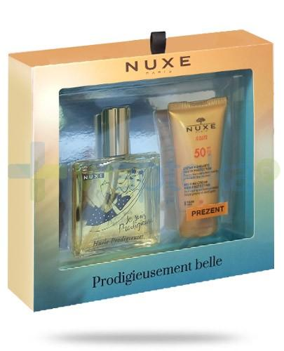 Nuxe Lato 2016 ZESTAW Huile Prodigieuse suchy olejek 100 ml + Sun krem do opalania SPF50+ 50 ml