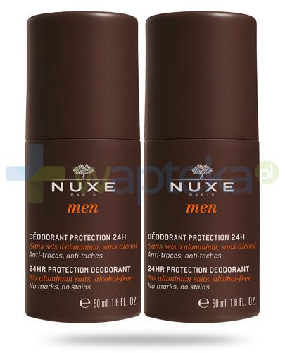 Nuxe Men dezodorant zapewniający całodobową ochronę roll-on 2x 50 ml [DWUPAK]