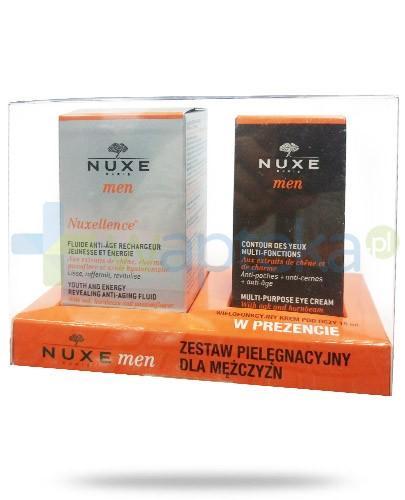 Nuxe Men ZESTAW Nuxe Men Nuxellence specjalistyczny preparat przeciwstarzeniowy 50 ml + NUxe Men krem wielofunkcyjny pod oczy 15 ml