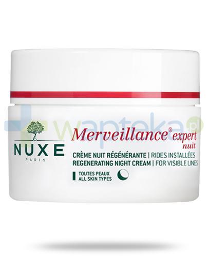 Nuxe Merveillance Expert Nuit regenerujący krem na noc 50 ml + Nuxe Płatki róży woda micelarna 100 ml [GRATIS]