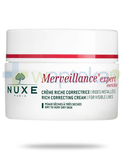 Nuxe Merveillance Expert Enriche bogaty krem przeciw zmarszczkom do cery suchej i bardzo suchej 50 ml  + Nuxe Płatki róży woda micelarna 100 ml [GRATIS]