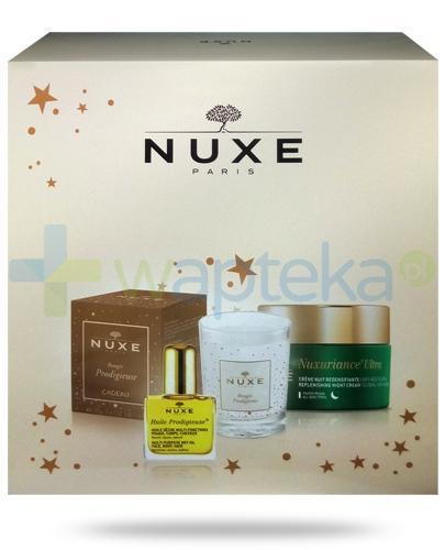 Nuxe Nuxuriance Ultra Creme Nuit krem przeciwstarzeniowy na noc 50 ml + suchy olejek 10 ml + świeczka 70 g [ZESTAW]