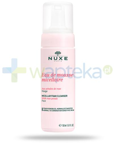 Nuxe Płatki róży pianka micelarna do oczyszczania twarzy 150 ml + Nuxe Płatki róży woda micelarna 100 ml [GRATIS]