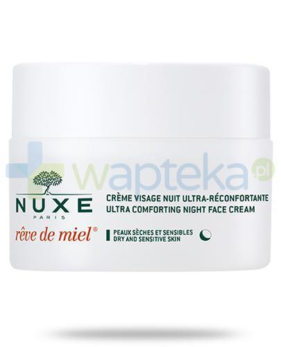 Nuxe Reve de Miel ultrakomfortowy krem do twarzy na noc 50 ml + Nuxe Płatki róży woda micelarna 100 ml [GRATIS]