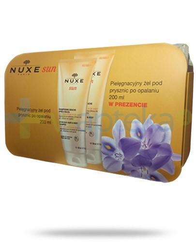 Nuxe Sun ZESTAW pielęgnacyjny żel pod prysznic po opalaniu 200 ml + żel pielęgnacyjny pod prysznic po opalaniu 200 ml + kosmetyczka