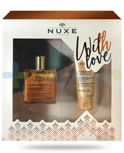 Nuxe With Love, Huile Prodigieuse OR wielofunkcyjny suchy olejek 50 ml + Prodigieux olejek po prysznic 30 ml [ZESTAW] + Nuxe Płatki róży woda micelarna 100 ml [GRATIS]