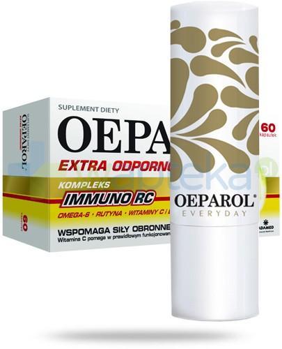 Oeparol Extra Odporność 60 kapsułek + Oeparol Everyday pomadka ochronna do ust 4,8g
