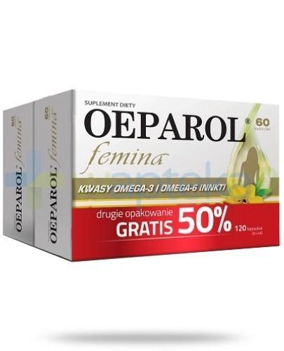 Oeparol Femina DUOPACK olej z nasion wiesiołka 120 kapsułek